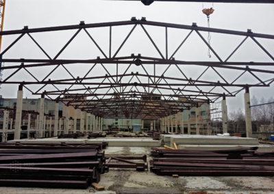 Производственная площадь для фабрики г. Фурманов. S= 8184 м,  m=220 тонн