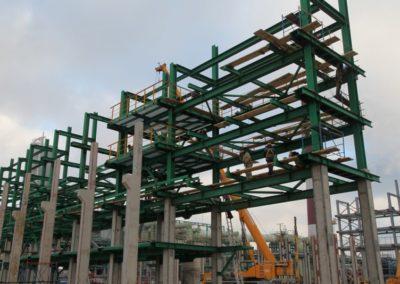 Комплекс работ по строительству блока установки гидрокрекинга